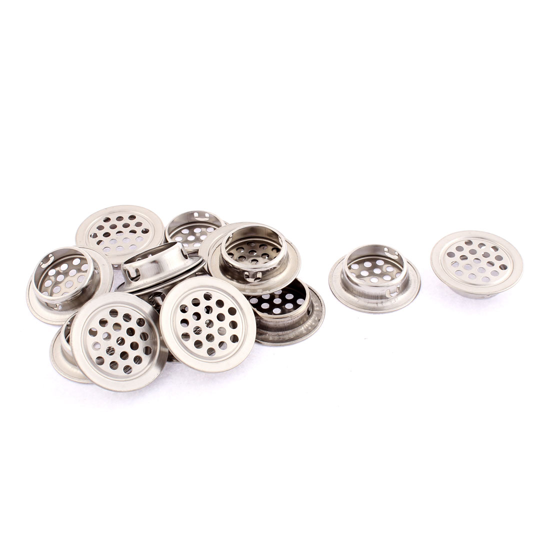 Cupboard Cabinet Perforated Mesh Air Vents Louvers 35mm Diameter 14 Pcs