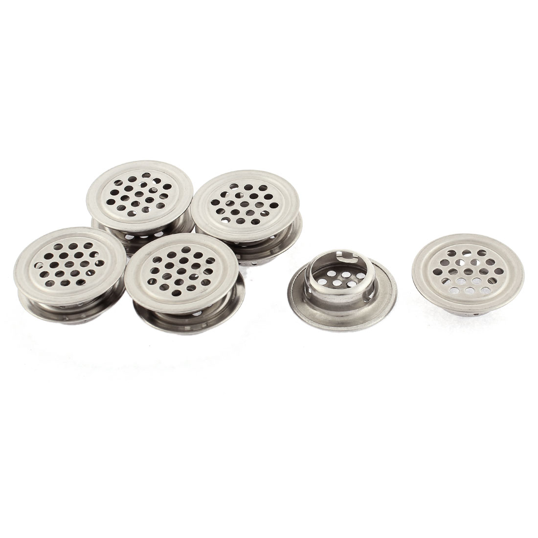 Round Shaped Perforated Mesh Air Vents Ventilation Louvers 30mm Dia 10pcs