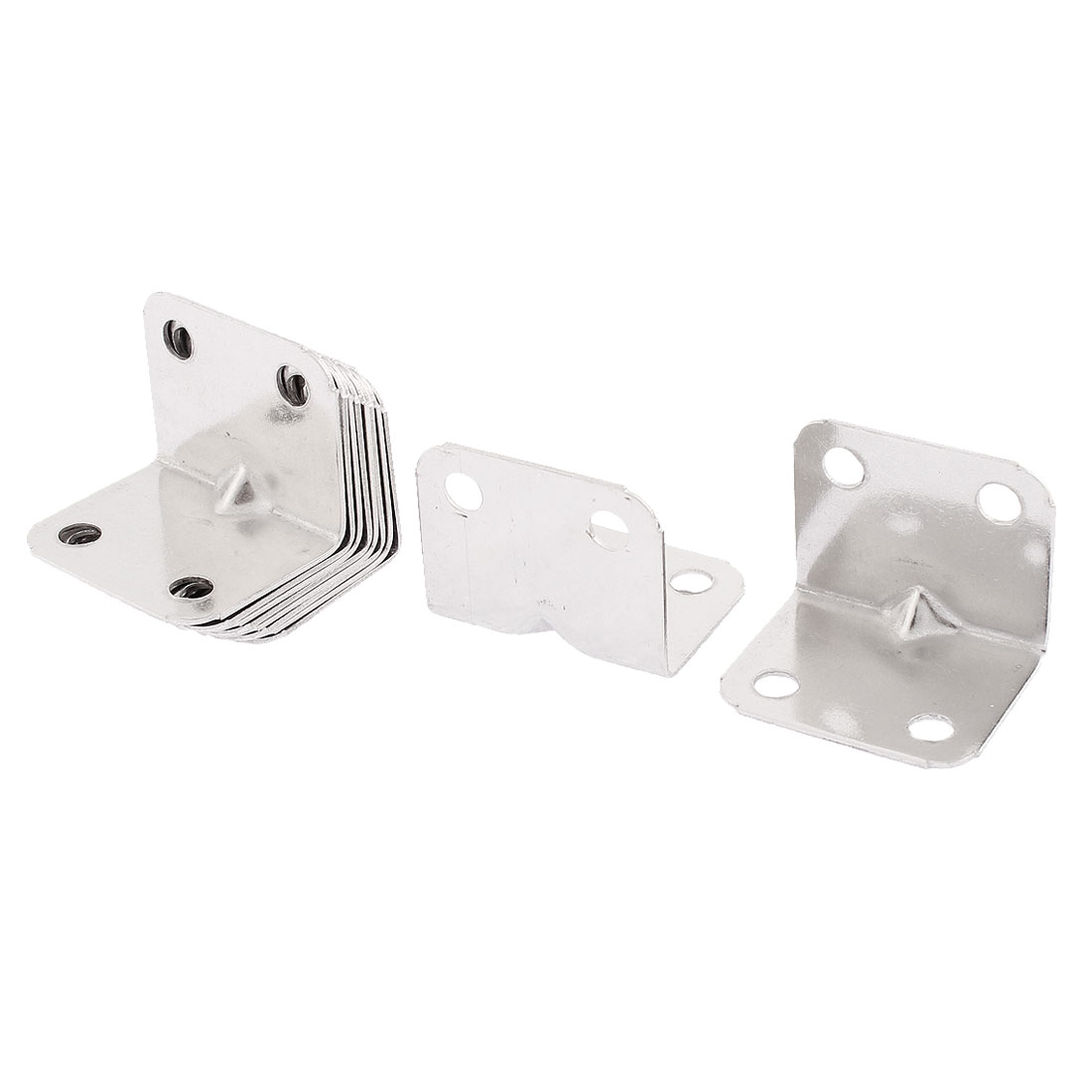 Stainless Steel 90 Degree 4 Holes Corner Angle Bracket 10pcs
