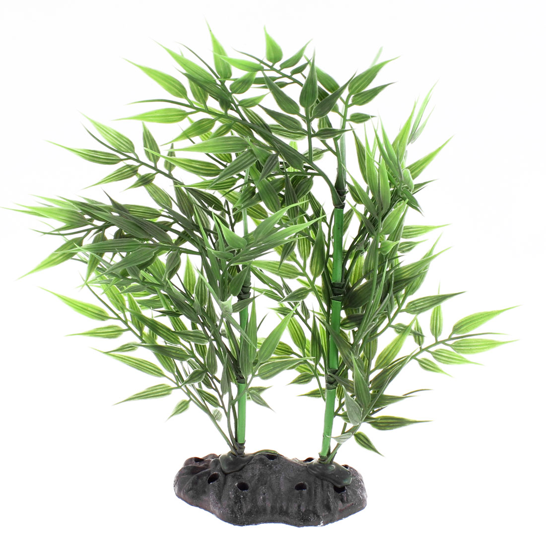 Aquarium Fish Tank Plastic Simulated Bamboo Plant Decor Water Ornament Green