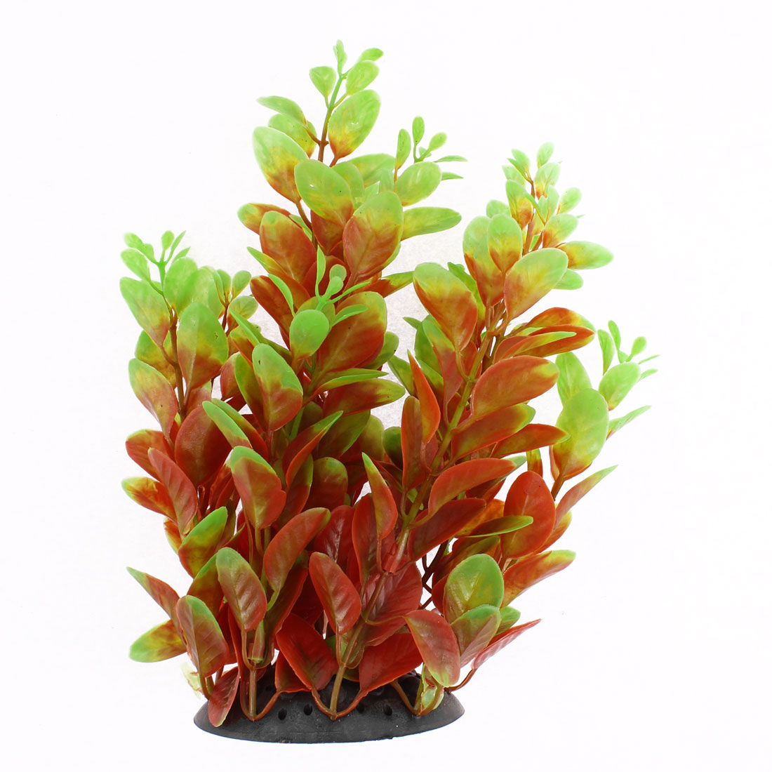 Aquarium Ceramic Base Plastic Water Plant Grass Decoration 18cm Height