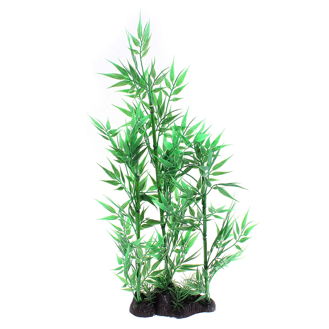 Aquarium Simulation Aquatic Bamboo Leaves Plant Decoration 36cm Height