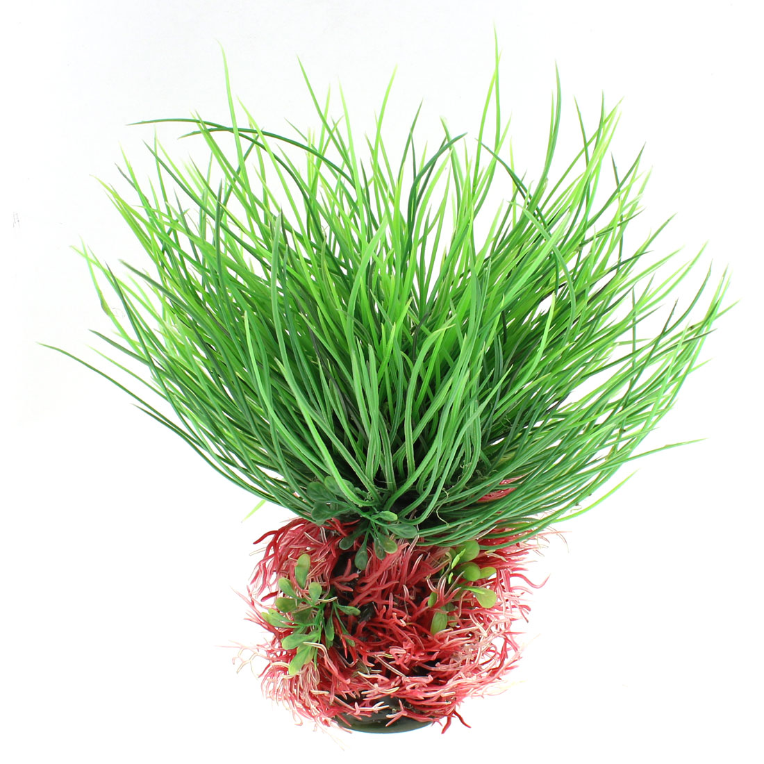 Aquarium Plastic Landscaping Grass Plant Decor 24cm Height