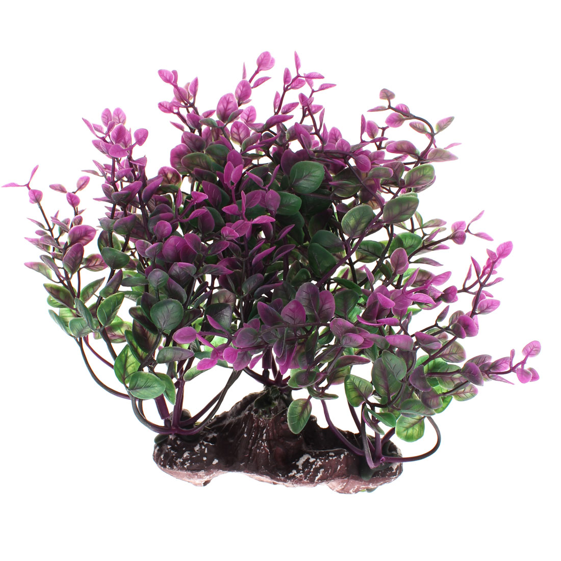 "Aquarium Plastic Artificial Underwater Plant Landscape Grass Decor 7.5"" Height"