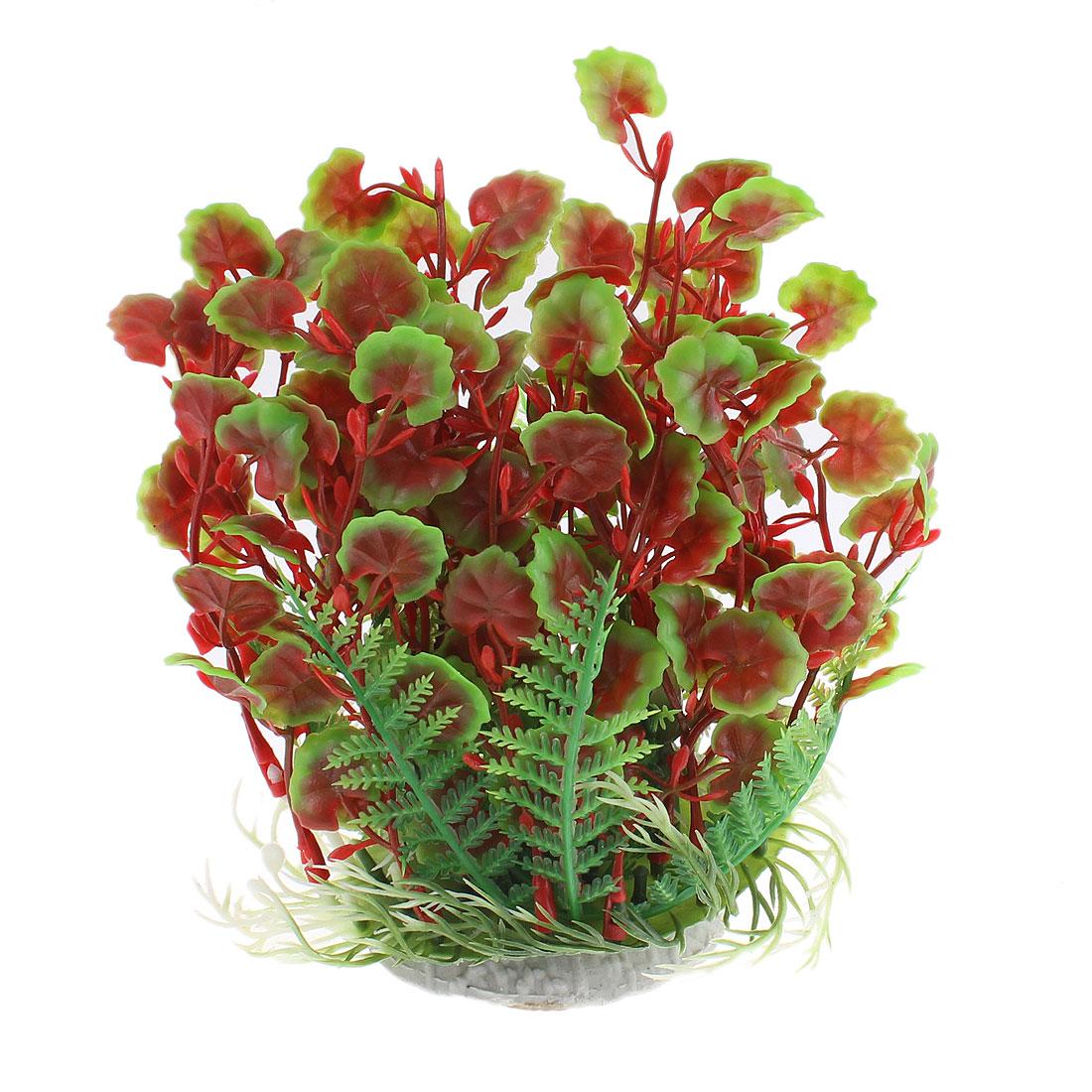 Aquarium Plastic Manmade Underwater Plant Ornament 17cm Height