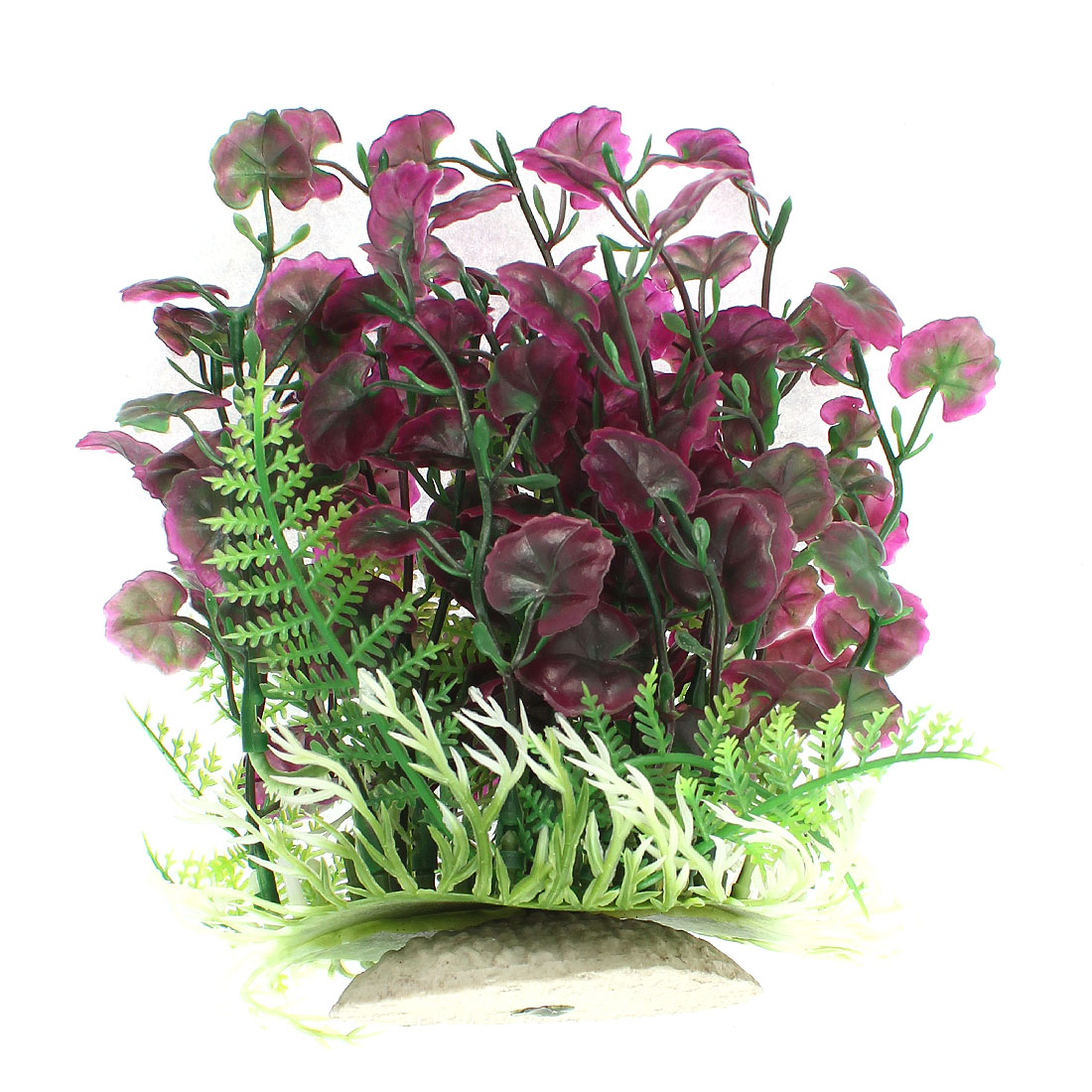 Aquarium Plastic Artificial Water Grass Plant Adornment 17cm Height