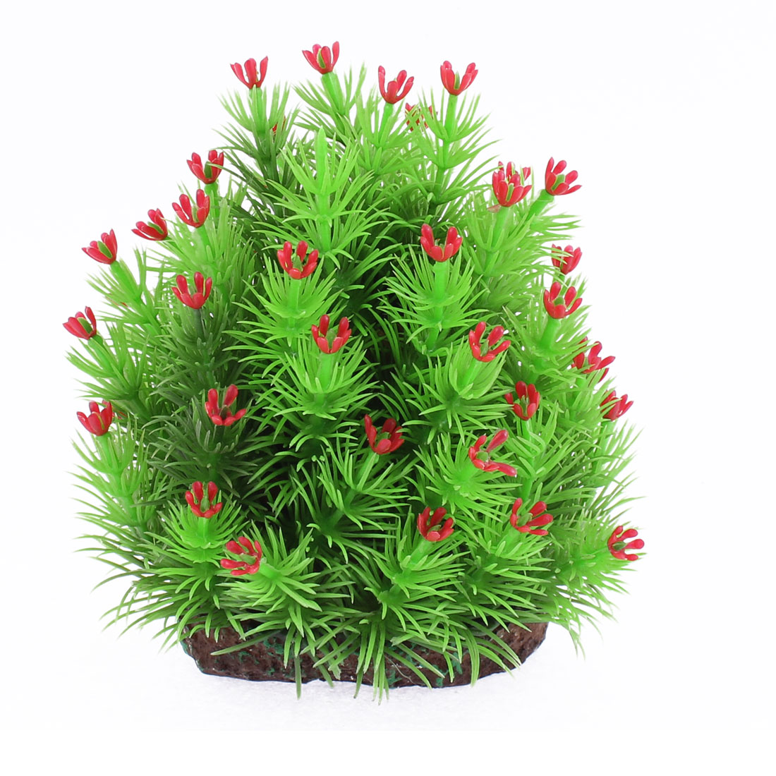 Aquarium Fishbowl Plastic Imitated Underwater Plant Grass Adornment Green Red