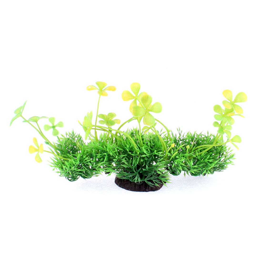 Aquarium Fishbowl Plastic Artificial Water Plant Grass Embellishment Green