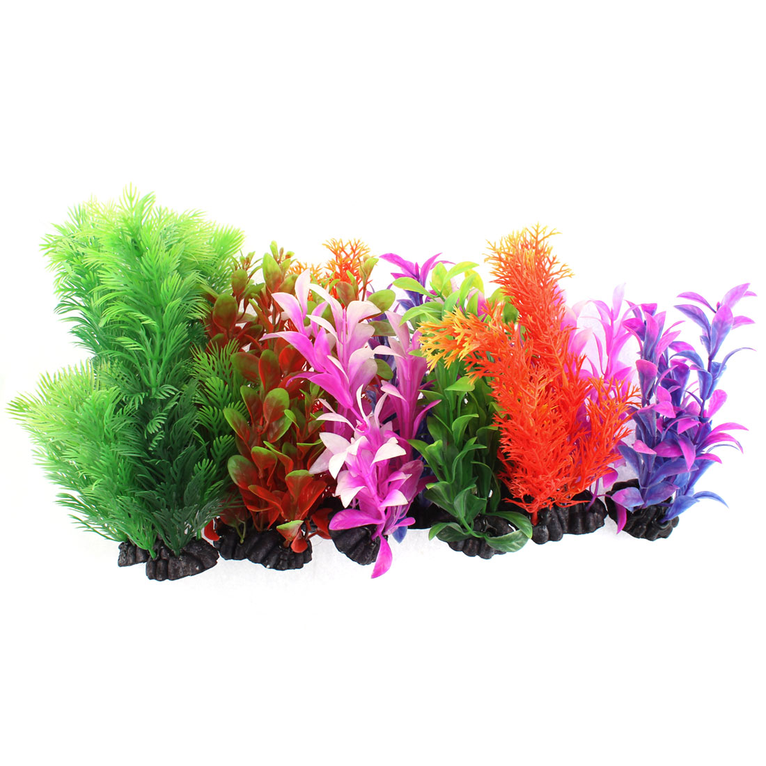 Aquarium Plastic Aquascaping Underwater Plant Adornment 12 in 1