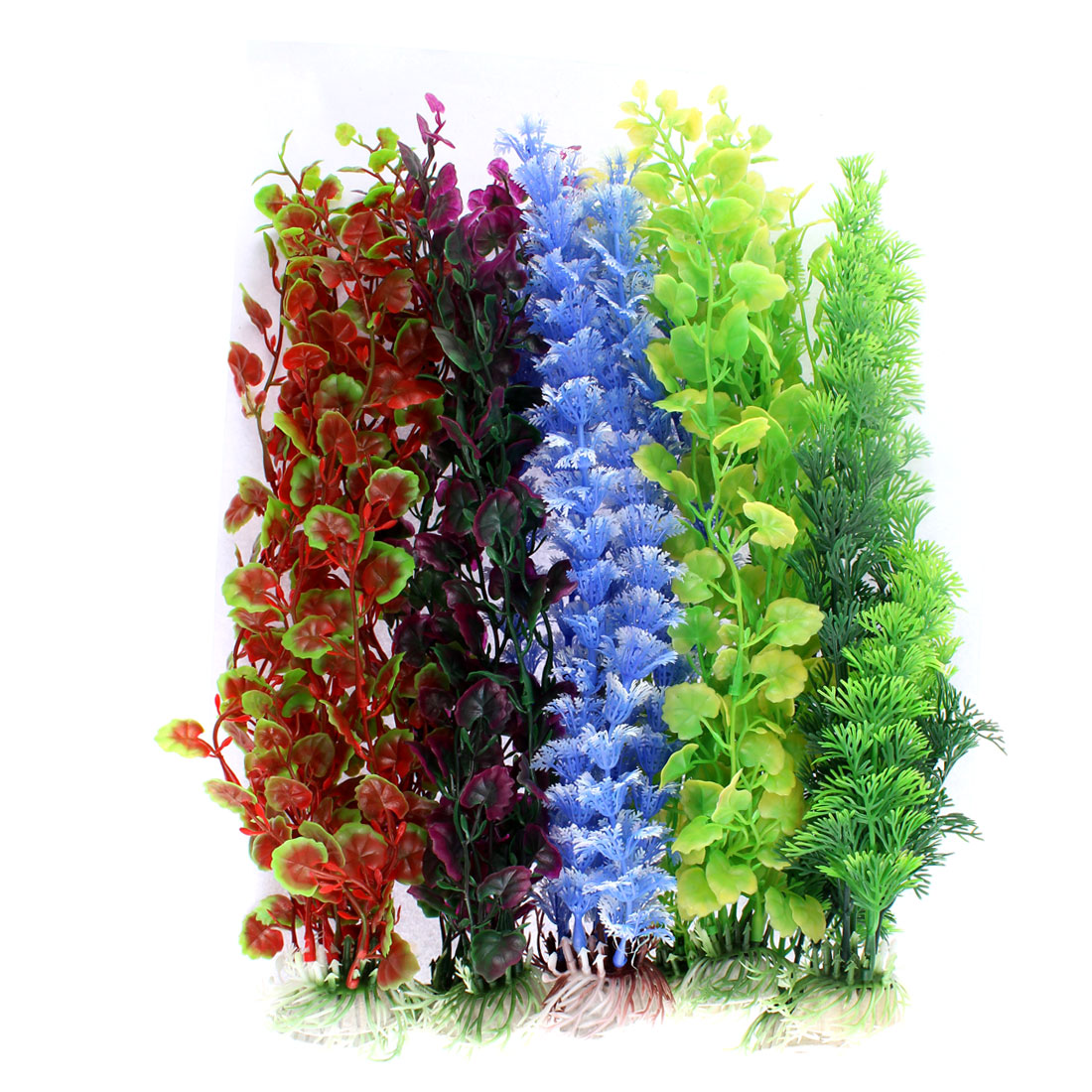 Aquarium Plastic Emulational Underwater Grass Plant Decor 10 in 1
