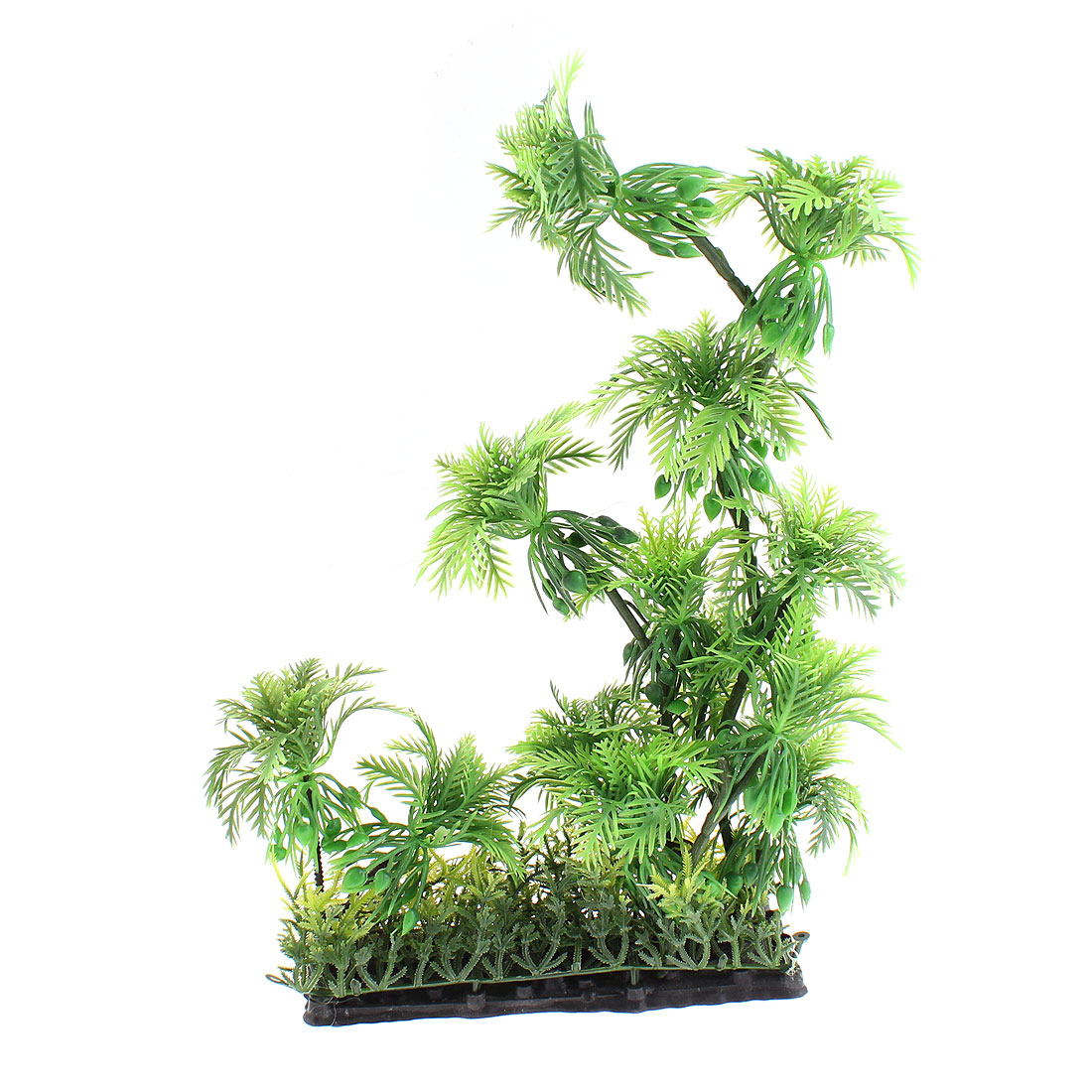 "Aquarium Plastic Emulational Water Tree Plant Decor 10"" High"