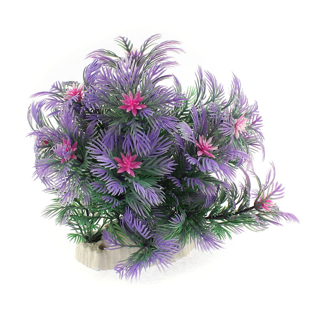 Aquarium Plastic Emulational Aquatic Flower Plant Decor Green Purple