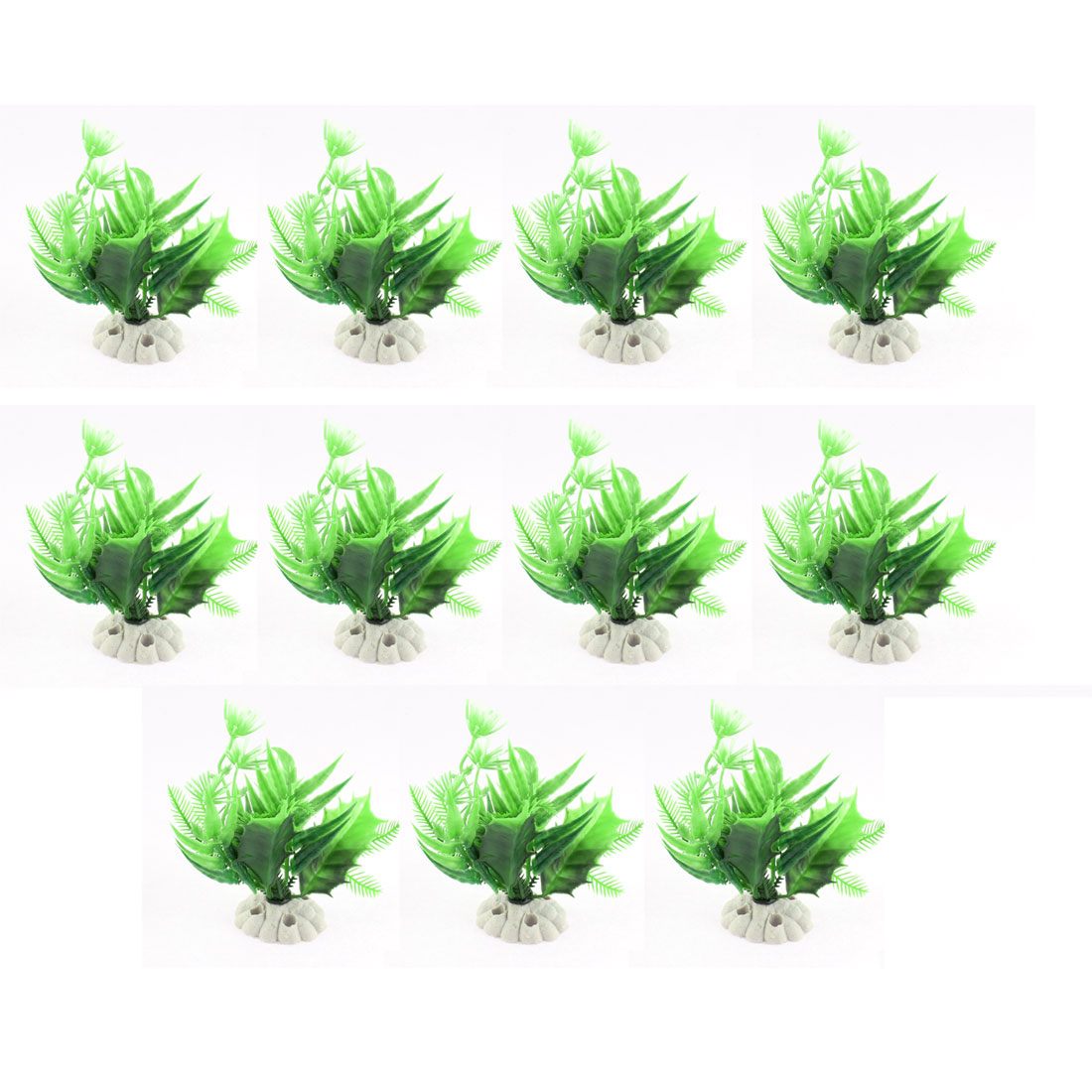 Aquarium Plastic Artificial Landscaping Aquatic Grass Plant Decor 11PCS