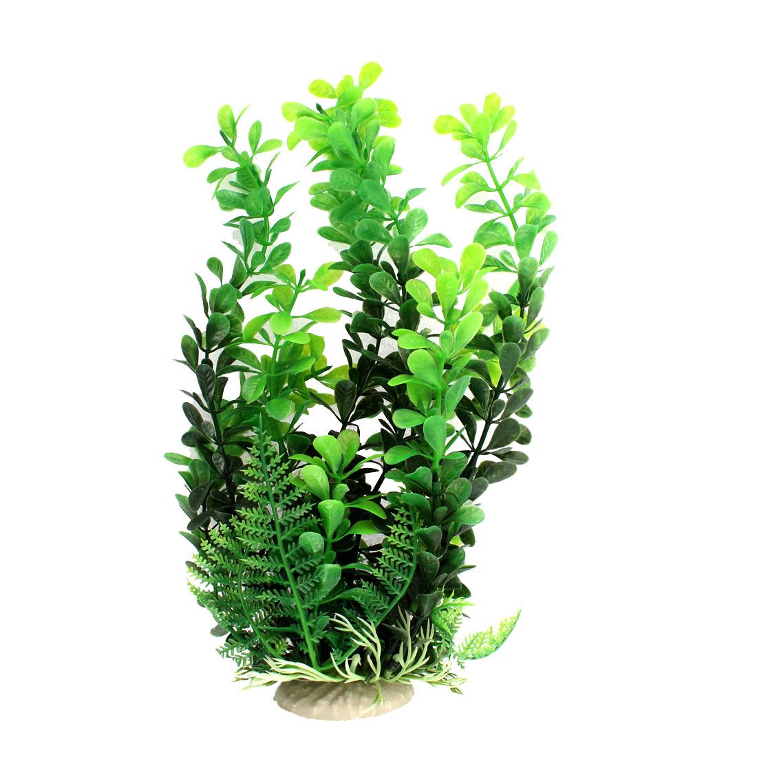 """Aquarium Plastic Simulation Aquatic Plant Decor Green 9"""" Height"""