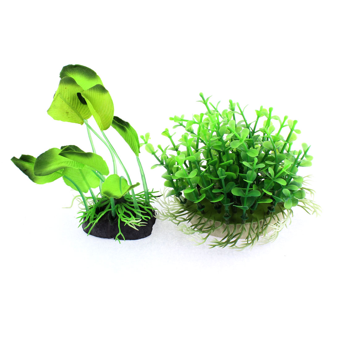 Aquarium Plastic Emulational Water Grass Plant Decor 2 in 1