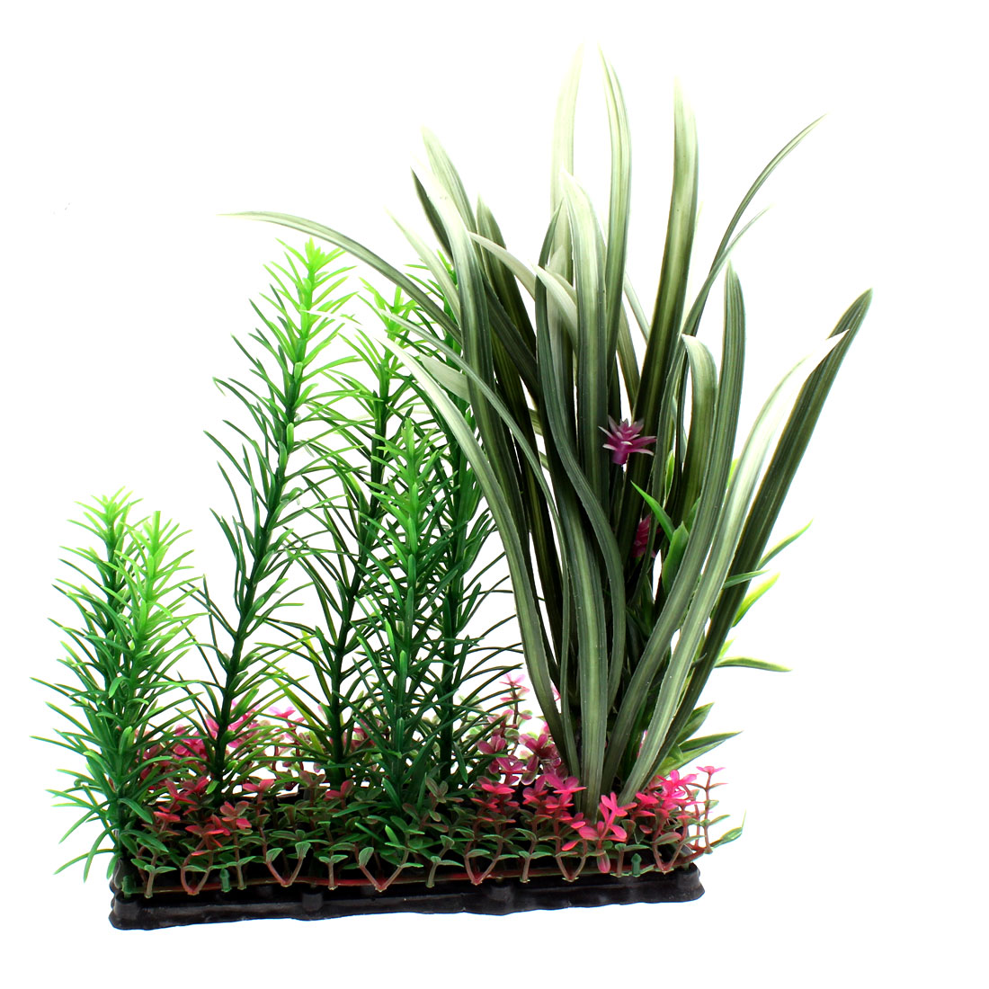 Plastic Manmade Underwater Plant Grass Decor 22 x 16cm for Aquarium Fish Tank
