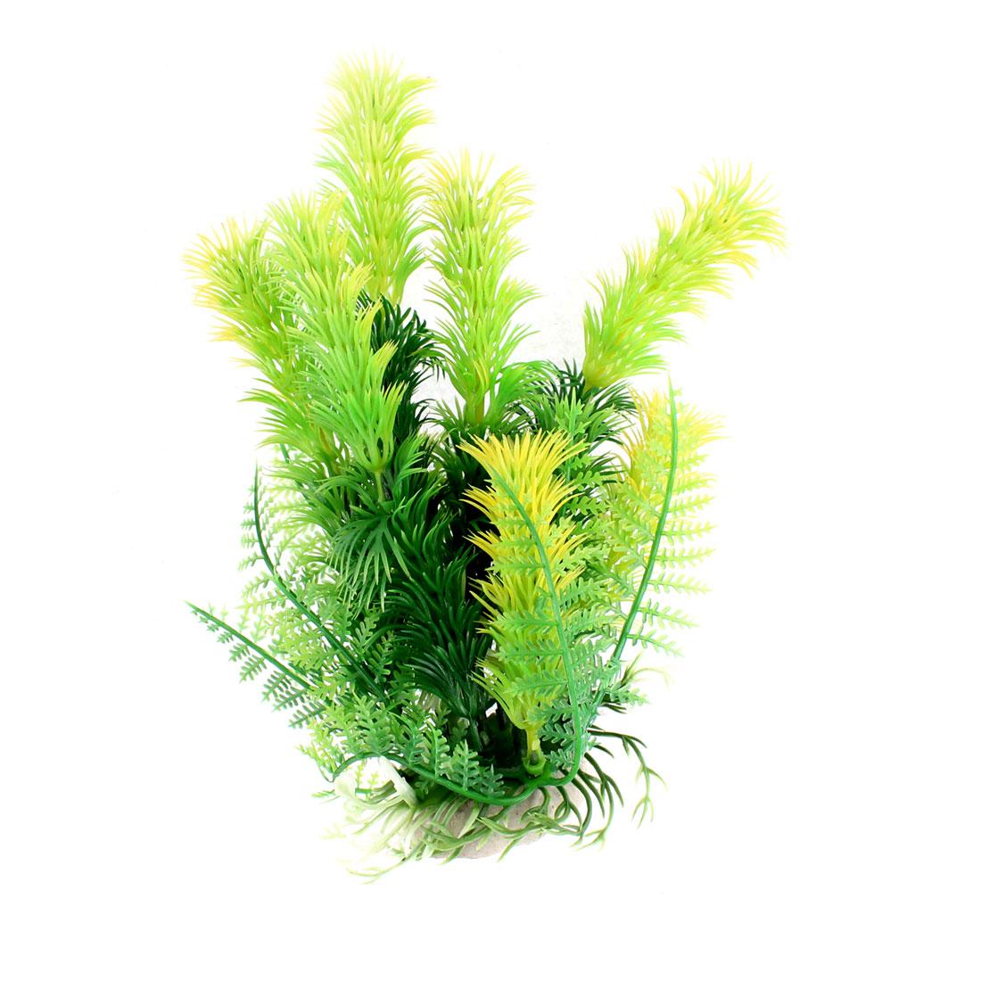 Aquarium Plastic Artificial Water Plant Ornament 18cm Height