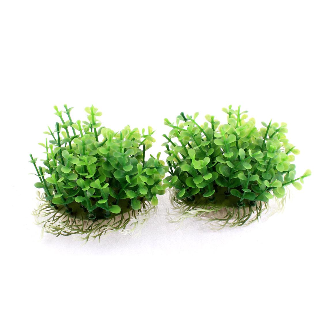 Aquarium Fish Tank Artificial Water Plant Grass Decor Green 9cm Height