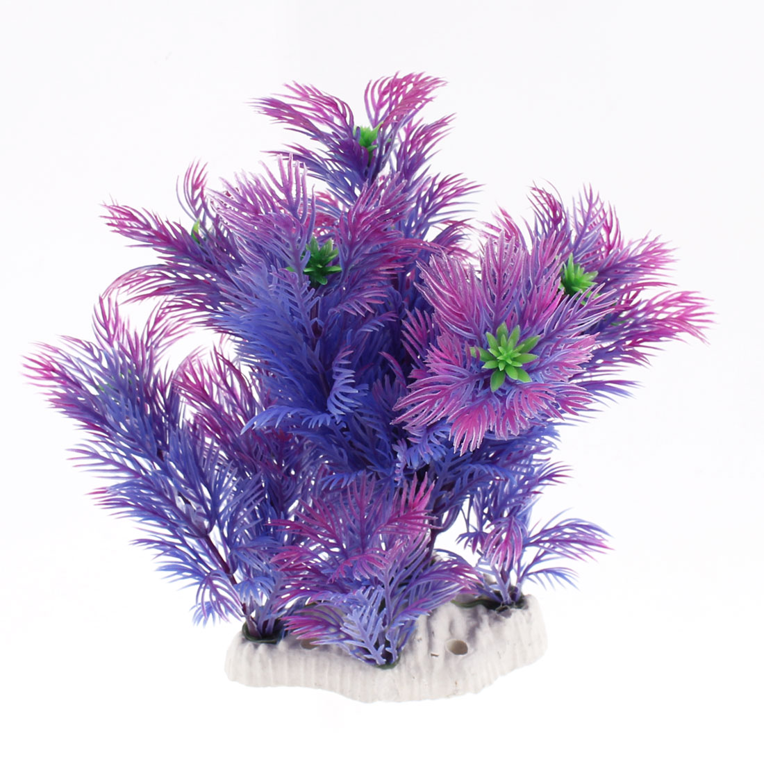 Aquarium Plastic Emulational Grass Plant Decor Purple Green