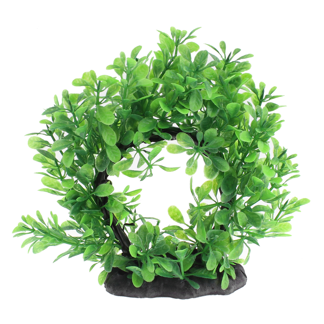 Aquarium Plastic Emulational Curved Shape Plant Ornament