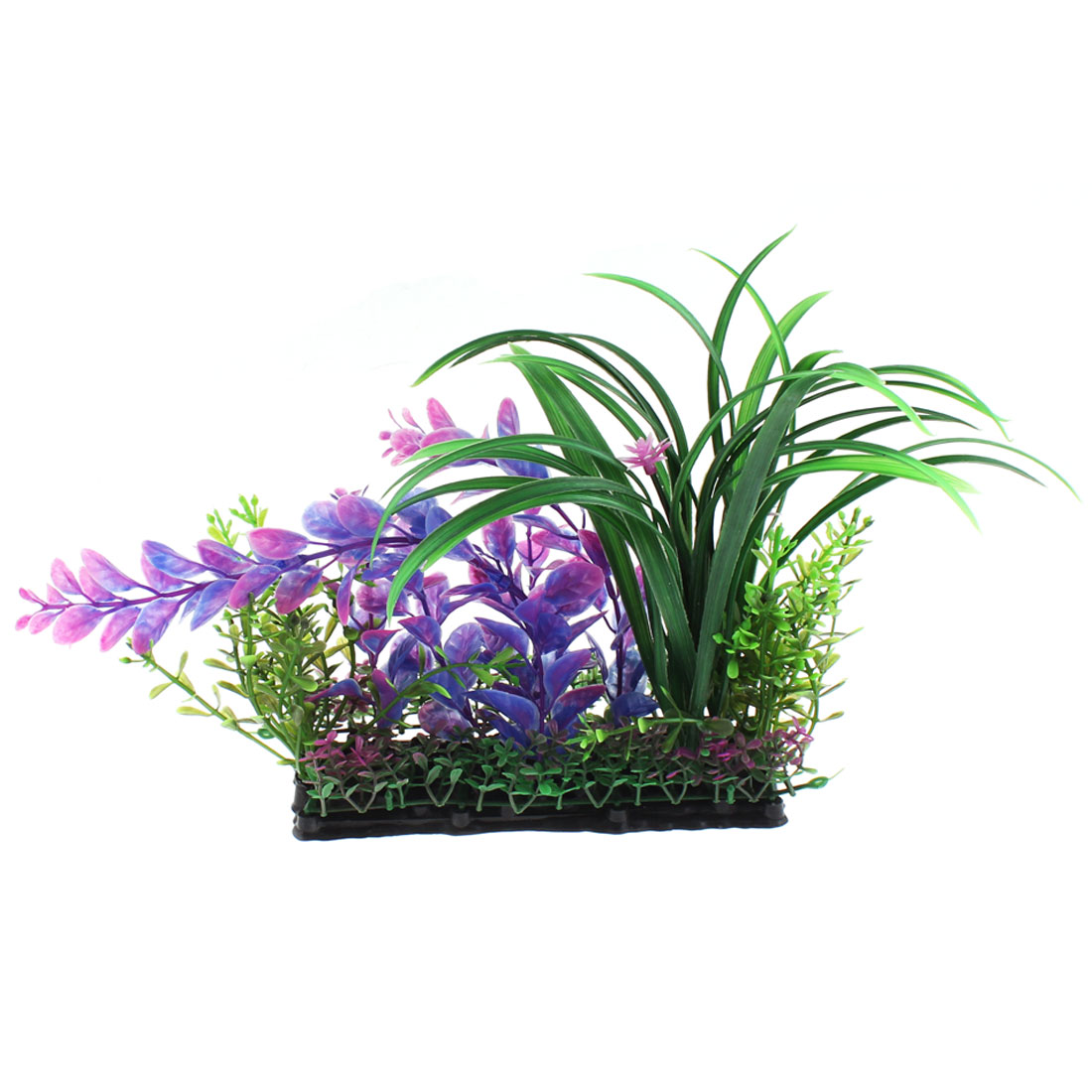 Aquarium Plastic Aquascaping Flower Plant Decor Purple Green