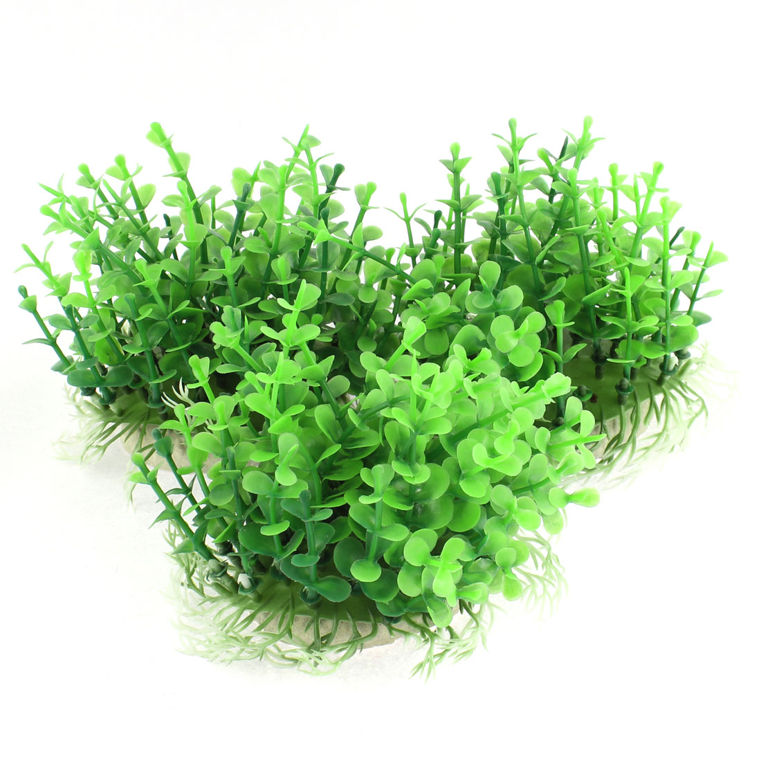 Aquarium Plastic Manmade Aquatic Plant Decoration Green 3PCS