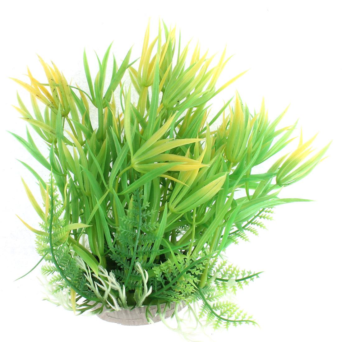 Aquarium Plastic Artificial Underwater Plant Grass Decoration 19cm Height