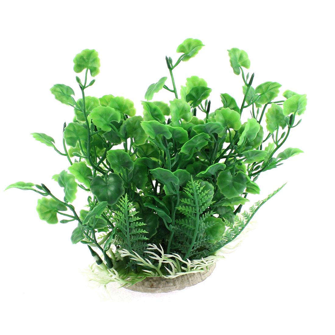 Fishbowl Aquarium Plastic Emulational Plant Grass Ornament 17cm Height