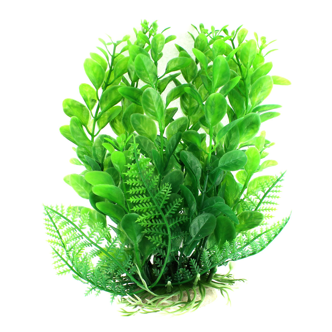 17cm Height Green Artificial Plastic Water Plant Grass Ornament for Aquarium