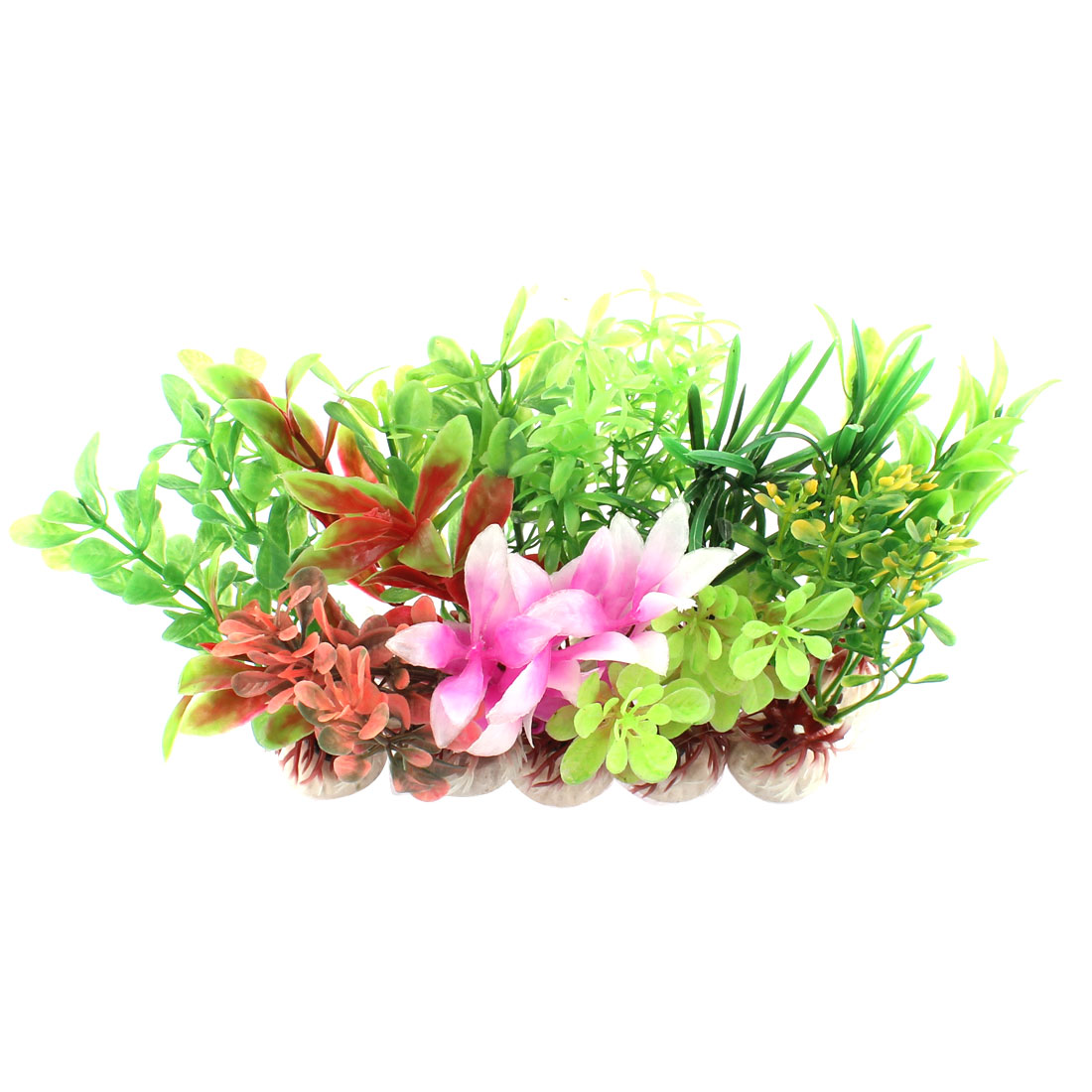 Aquarium Artificial Plastic Water Grass Plants Decor 10cm Height 10 in 1