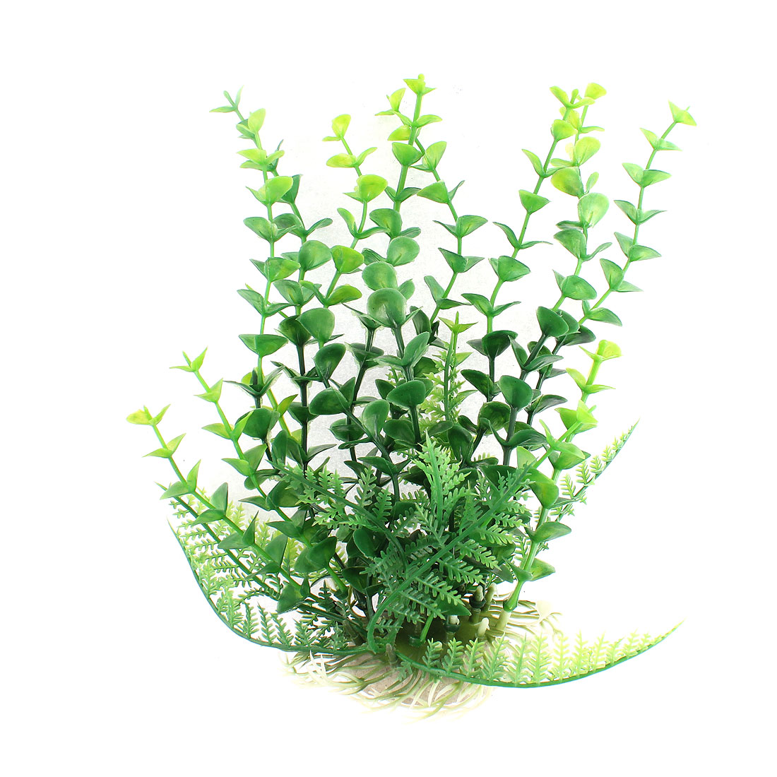 Aquarium Plastic Manmade Underwater Plant Ornament Green 8.3 Inch Height