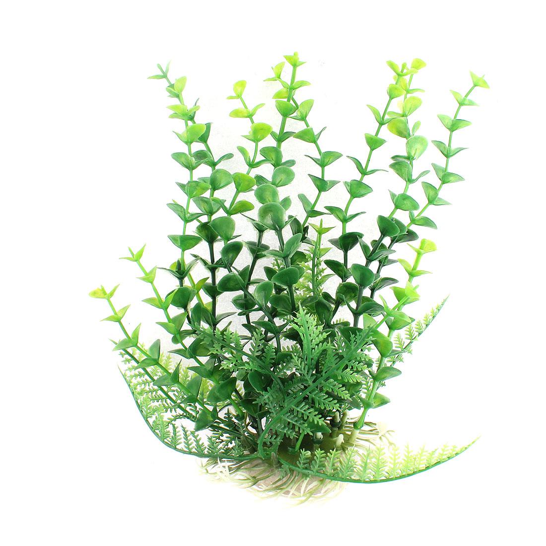 Aquarium Plastic Manmade Underwater Plant Ornament Green 8.3 Inch Height