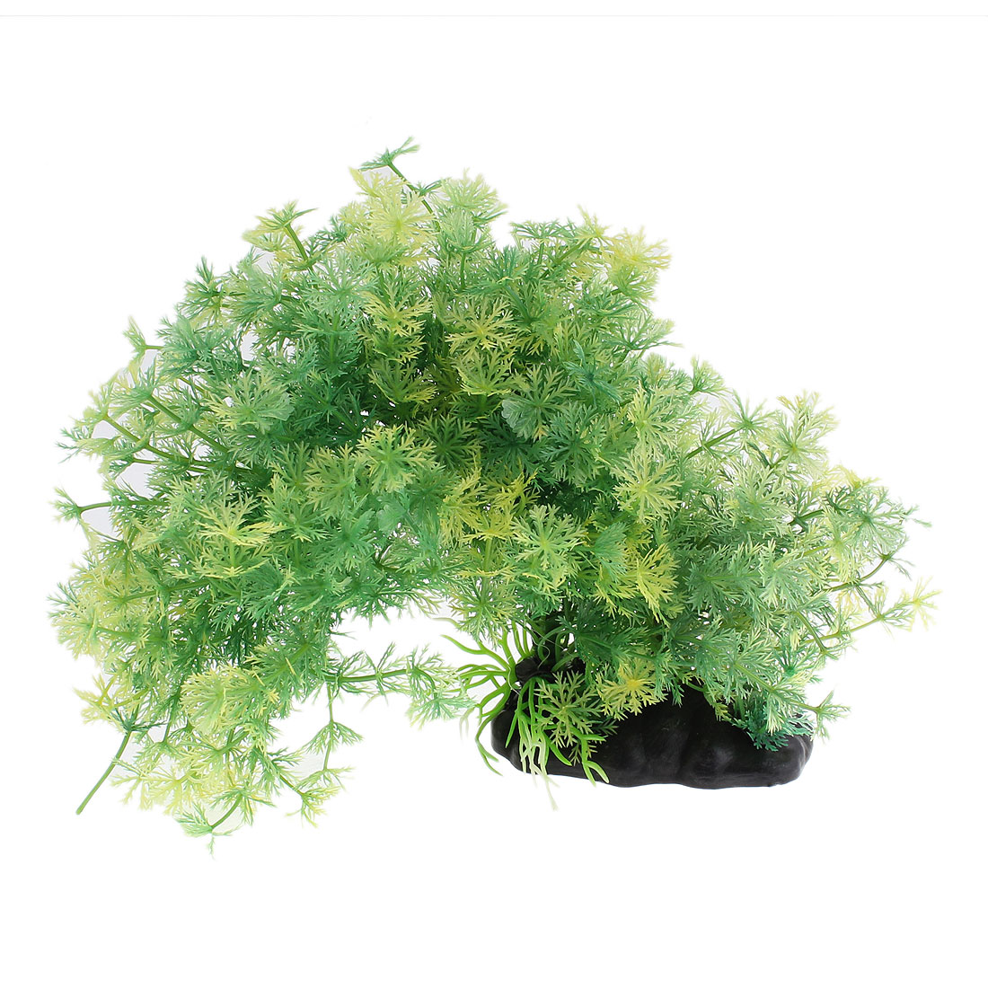 Aquarium Plastic Emulational Underwater Plant Ornament Green 23cm Height