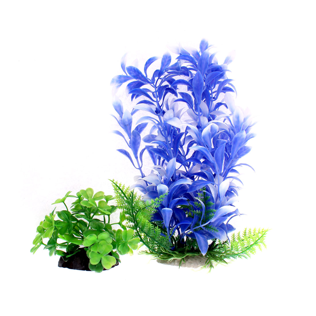 Aquarium Emulational Plastic Plants Decoration 2 in 1