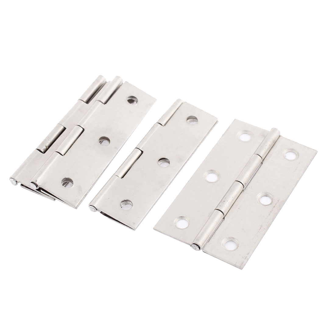Cabinet Stainless Steel Screw Mounted Door Hinges 4PCS