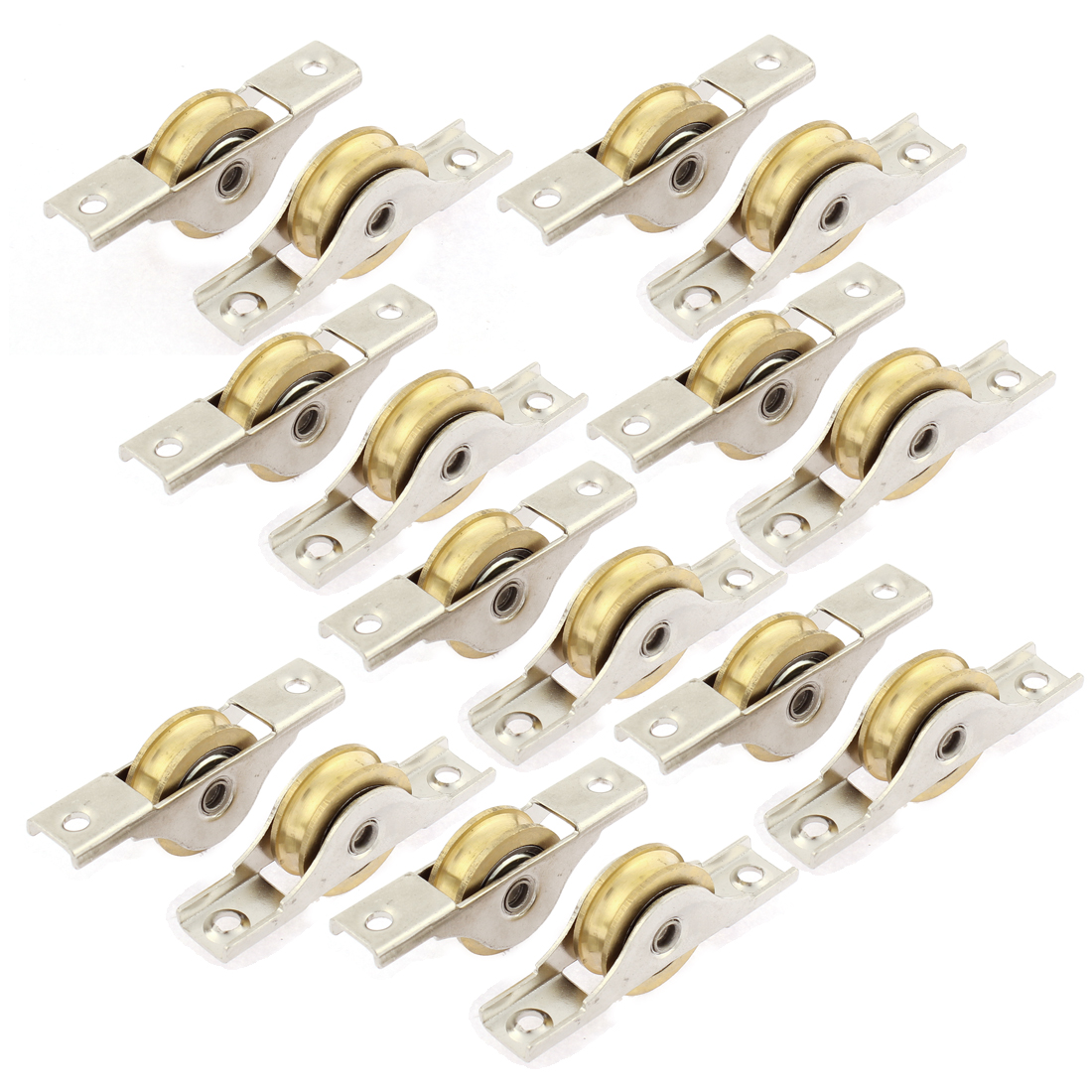 Cabinet Door Window Sliding Sash Pulley 26mm Dia Single Roller Wheel 16pcs