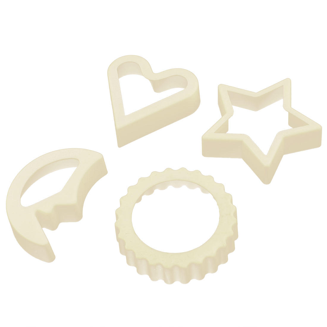 DIY Cake Cookies Biscuit Plastic Heart Starriness Floriated Moon Shape Cutter Baking Molds Kitchen Embossing Tool 4 in1