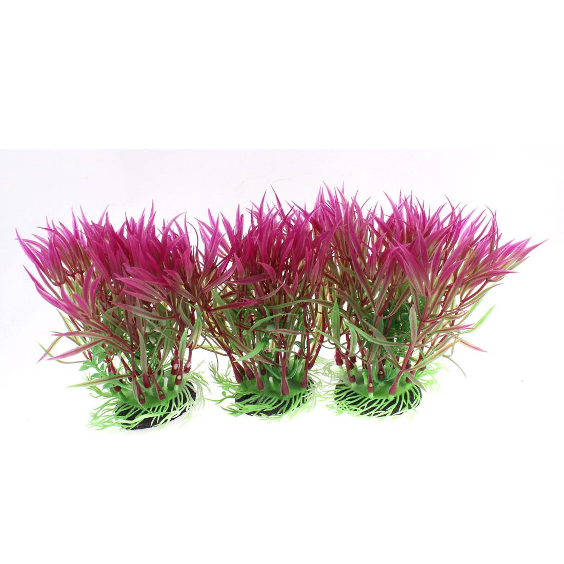 Aquarium Artificial Underwater Plant Landscape Grass Decor 14.5 x 10cm 3pcs