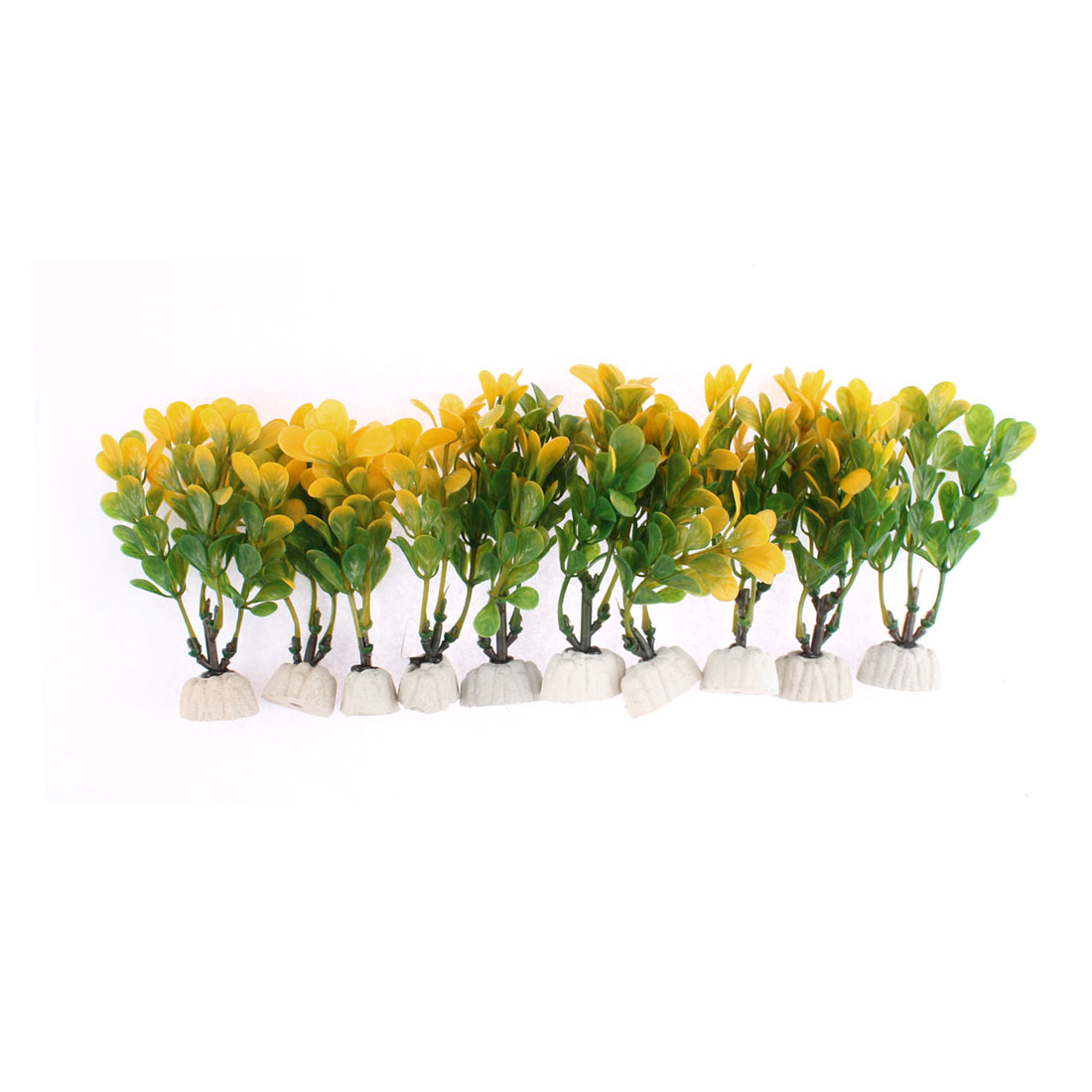 Aquarium Simulated Water Plant Grass Ornament 11.5cm Height 10pcs