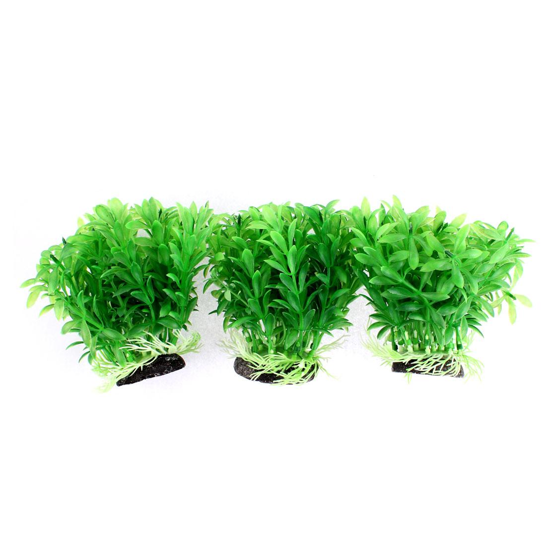 Aquarium Artificial Underwater Plant Grass Ornament 11cm High 3pcs