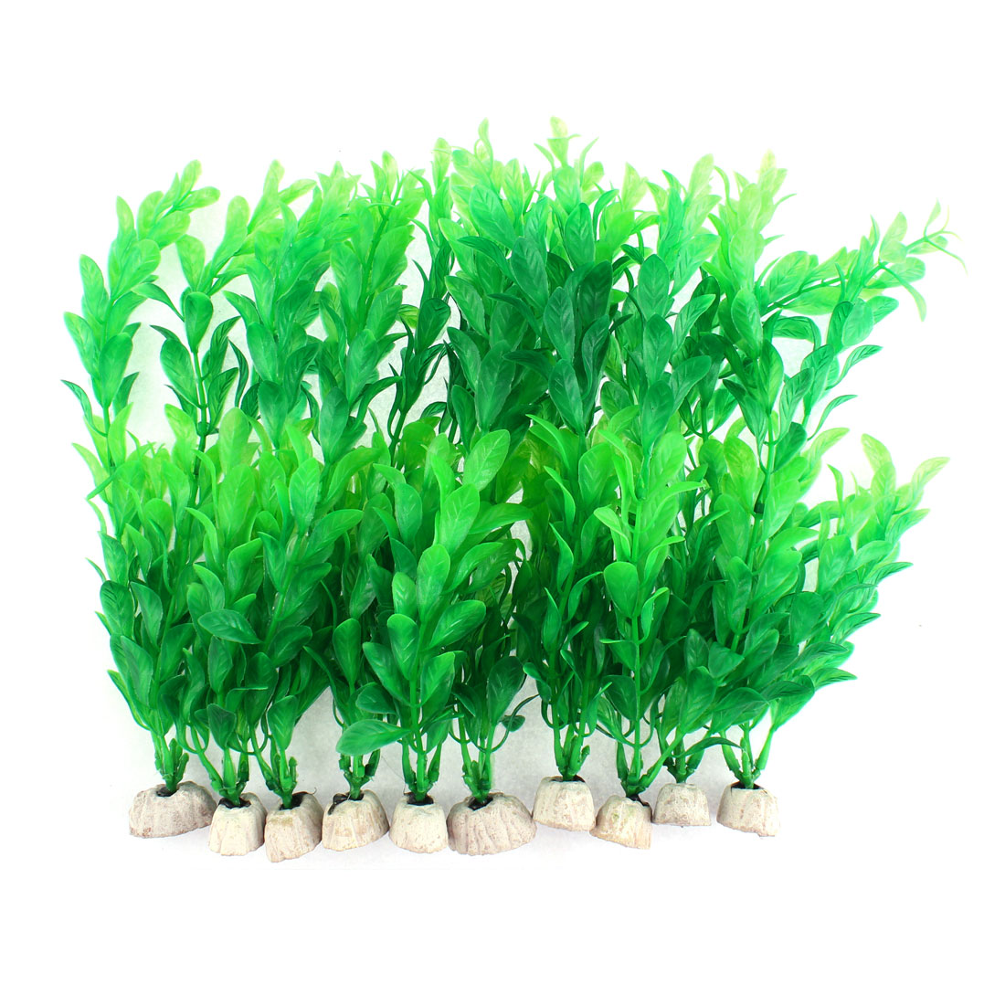 Aquarium Emulational Plastic Water Plant Ornament 23 x 8cm High 10pcs