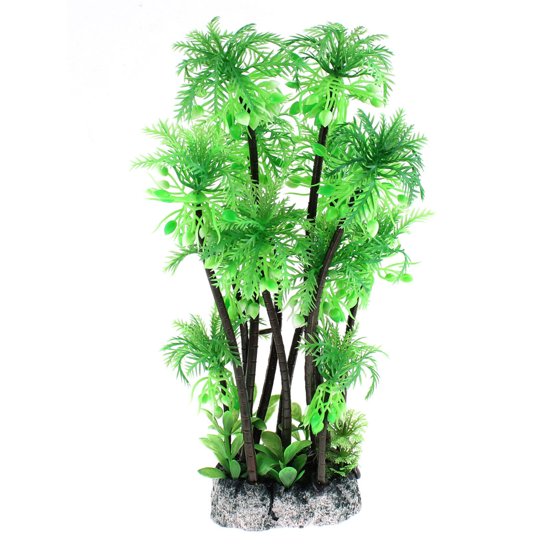 Aquarium Plastic Manmade Coconut Tree Plant Decoration 28cm Height