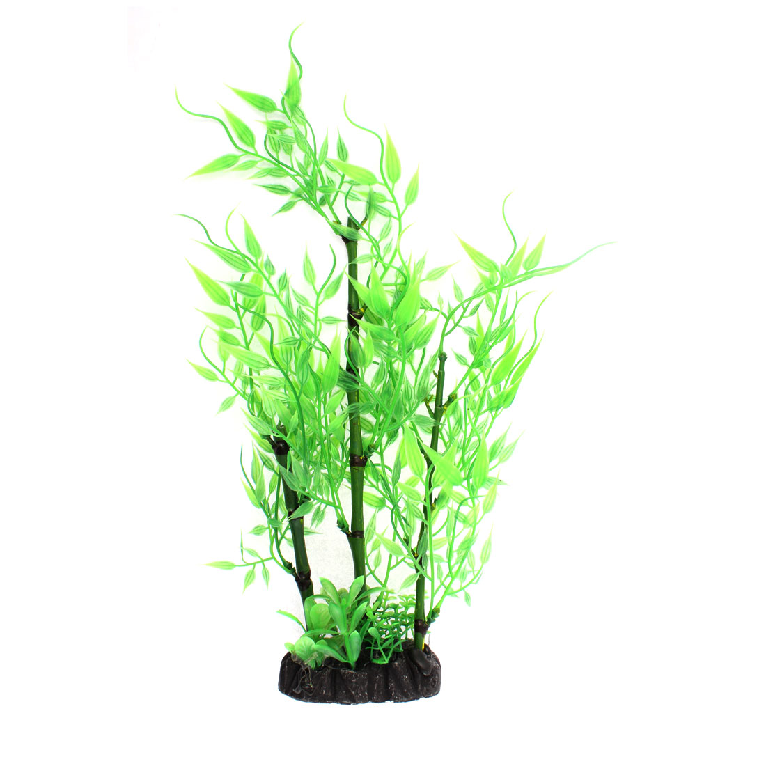 Aquarium Plastic Manmade Water Bamboo Plant Grass Green 28cm High