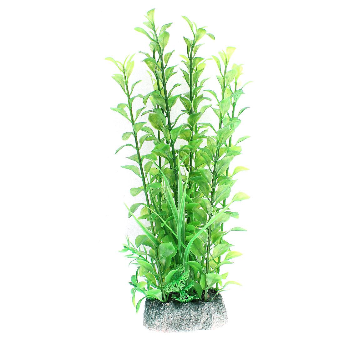 Aquarium Plastic Artificial Water Plant Grass Embellishment 32cm Height