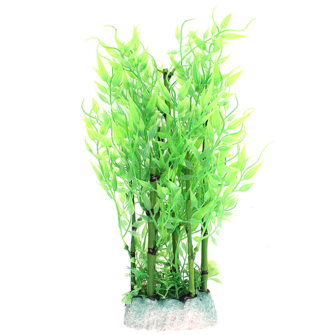 Aquarium Plastic Manmade Water Bamboo Plant Grass Green 29cm Height