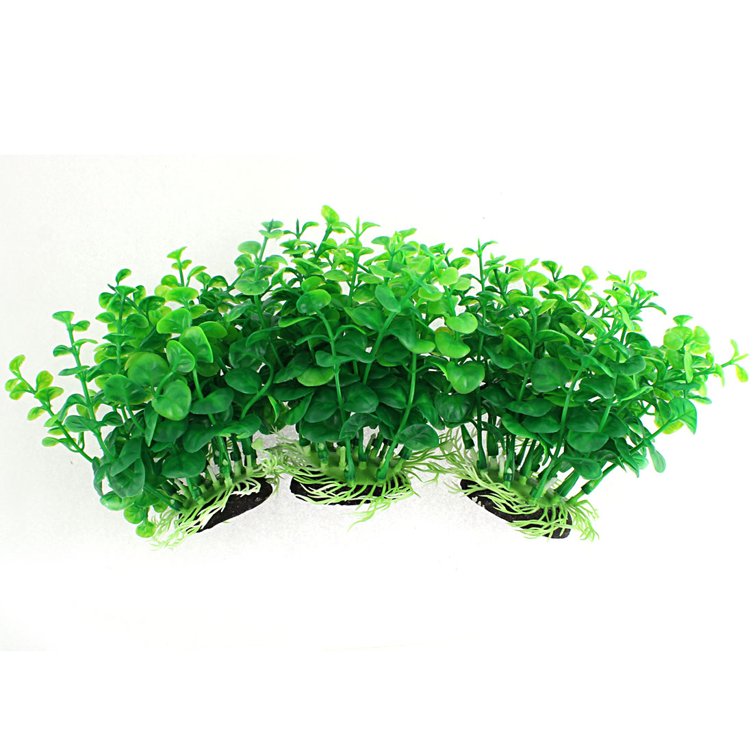 Aquarium Plastic Artificial Water Plant Grass Decoration 13cm High 3pcs