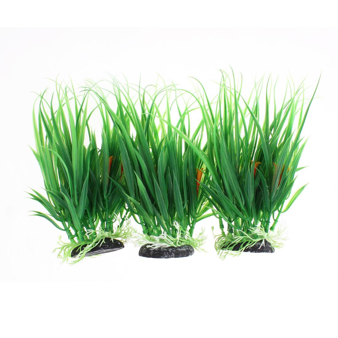 Fish Tank Fishbowl Water Plant Landscape Grass Green 19 x 13cm 3pcs