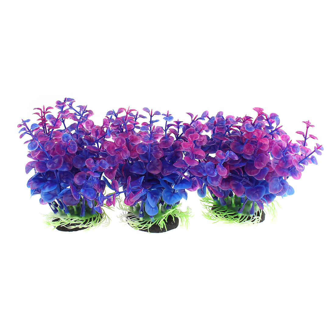"Aquarium Emulation Underwater Plant Ornament Purple 5"" High 3pcs"