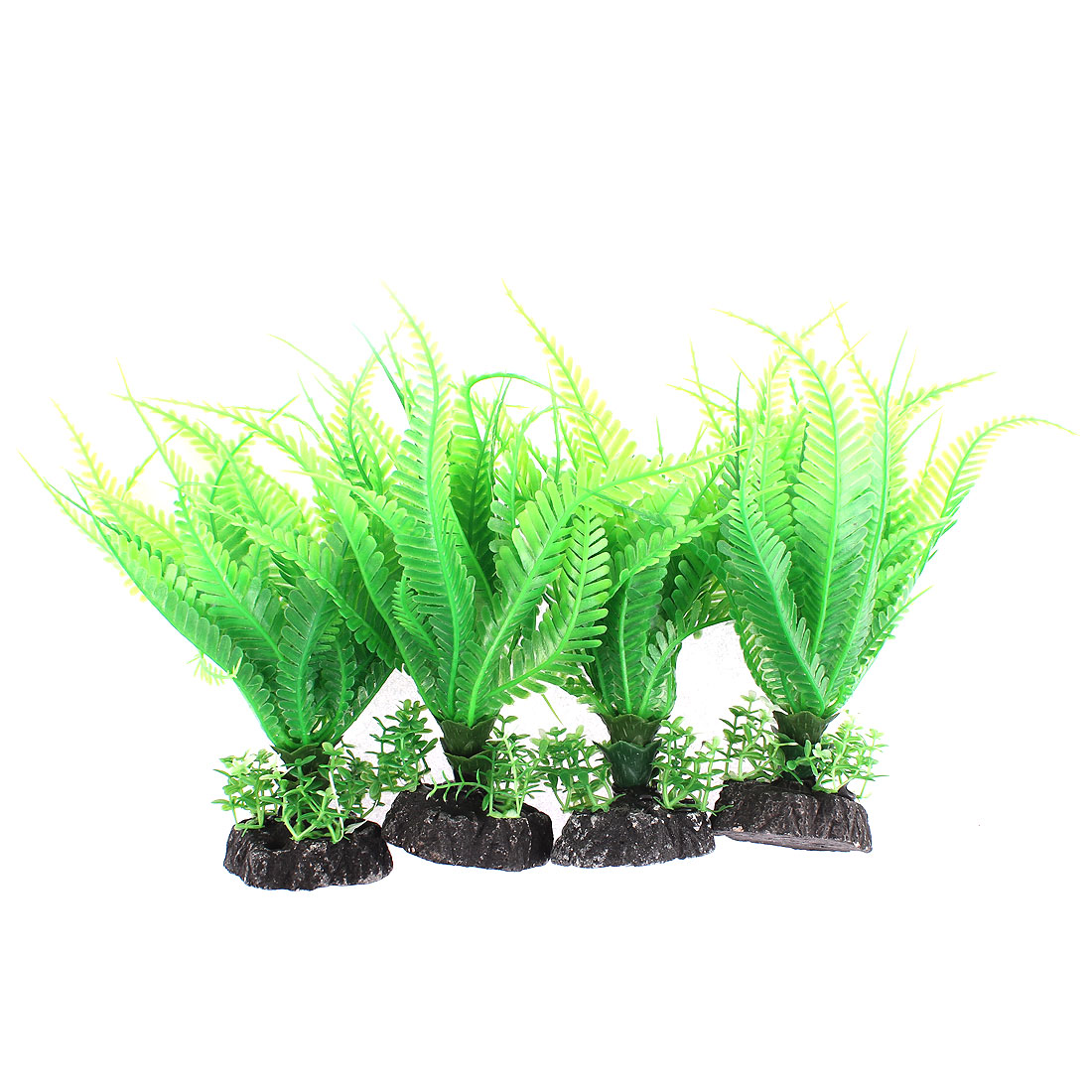 Aquarium Plastic Artificial Underwater Plant Landscape Grass Decor 4pcs