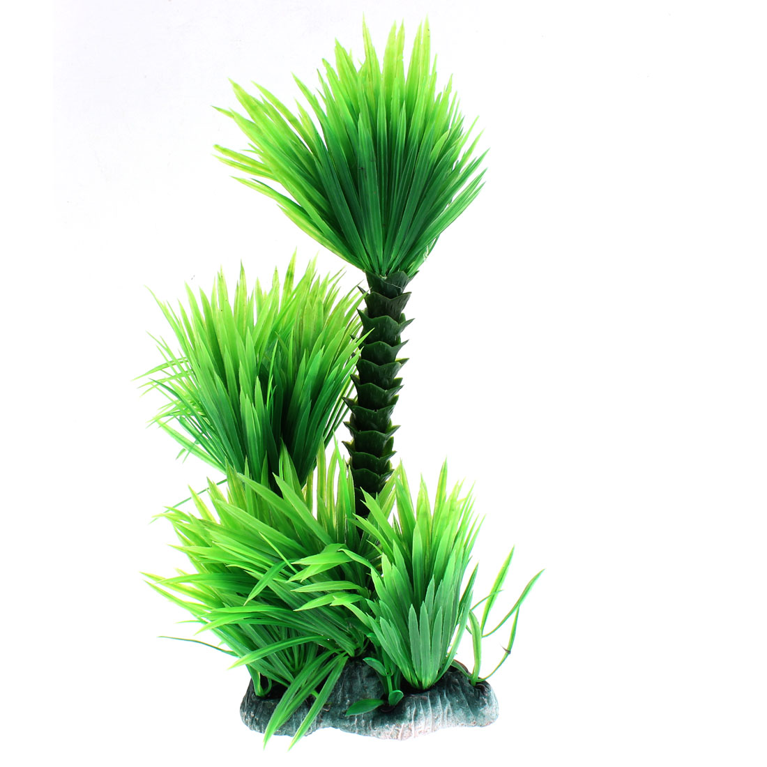 Ceramic Base Plastic Artificial Ornament Underwater Plant for Fish Tank Aquarium